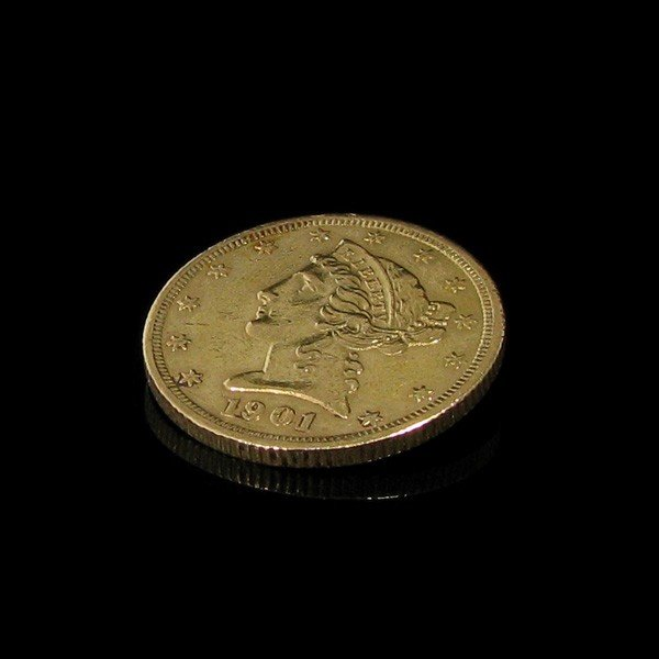 1901-s $ 5 U.S. Liberty Head Gold  Coin - Investment