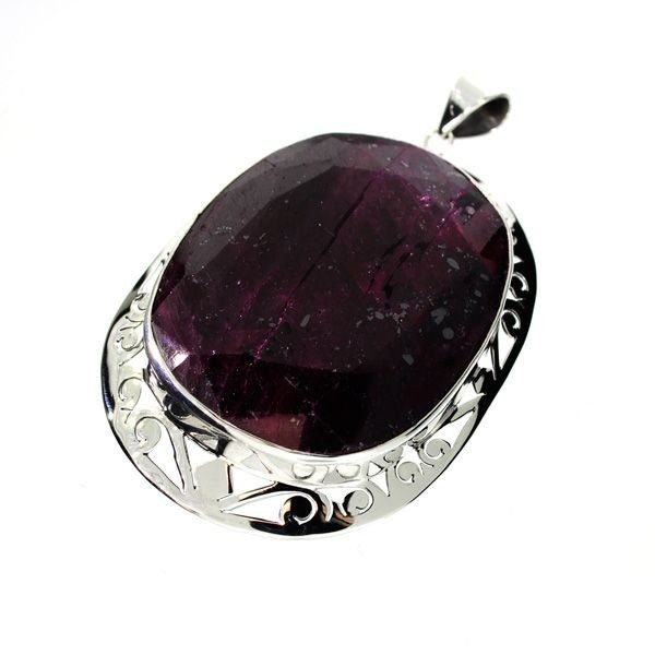APP: 64.3k 240.79CT Ruby & Sterling Silver Pendant