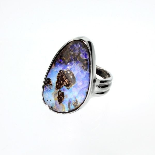APP: 11.3k 51.20CT Boulder Opal & Sterling Silver Ring