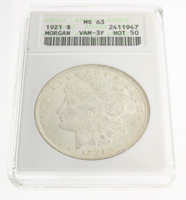 1921 U.S. Morgan Silver Dollar Coin - Investment