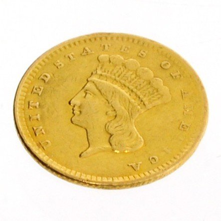 1856 U.S. $1 Indian Head Gold Coin - Investment