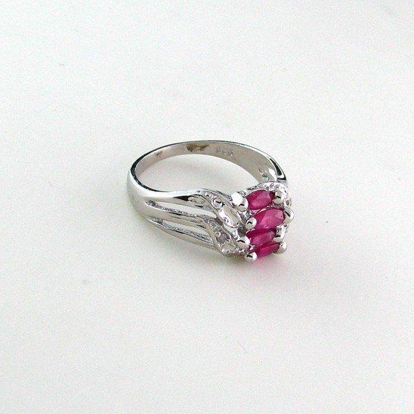 APP: 1.4k 1.03CT Ruby w/Diamonds & Sterling Silver Ring