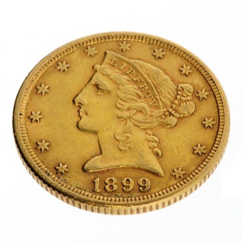 1899 U.S. $5 Liberty Head Gold Coin - Investment
