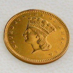 1856 $1 U.S. Indian Head Gold Coin - Investment