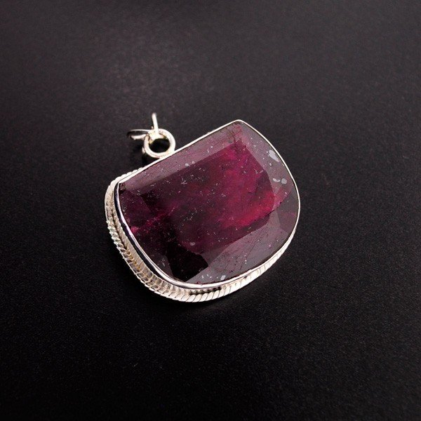 APP: 32k 119.74CT Ruby & Sterling Silver Pendant