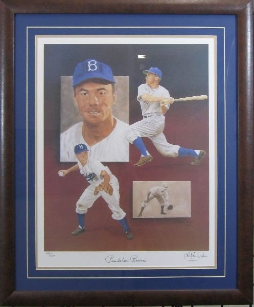 Pee Wee Reese Lithograph - Authentic Signature