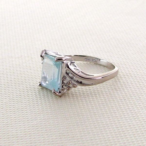 APP: 35k 1CT Aquamarine & Overlaid Sterl Silver Ring