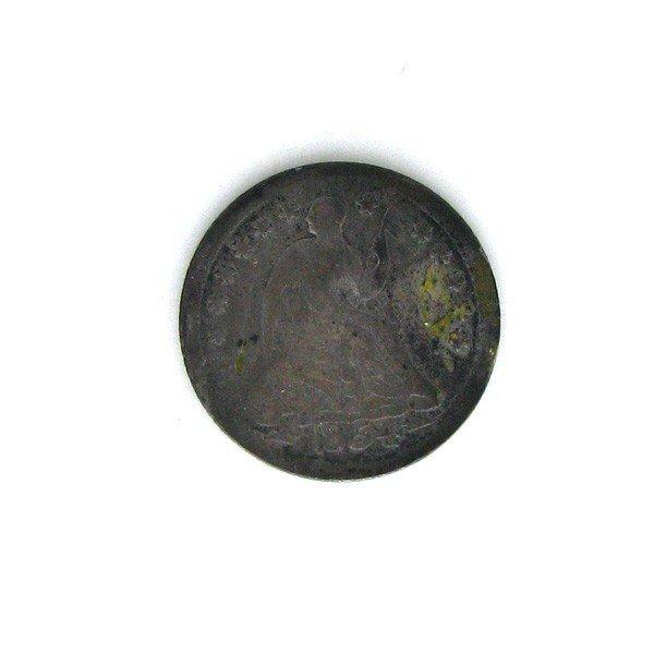 1854-O-w/A  U.S. Seated Liberty 1/2 Dime Coin