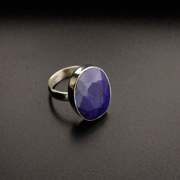 APP: 2.8k 16.18CT Blue Sapphire & Sterling Silver Ring