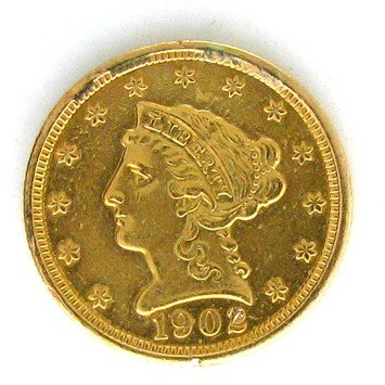 1903 U.S. $2.5 Liberty Head Gold  Coin - Investment