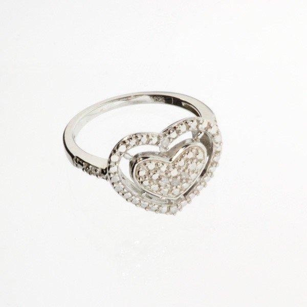 APP: 0.07k 18kt White Gold & Silver,Diamond Ring