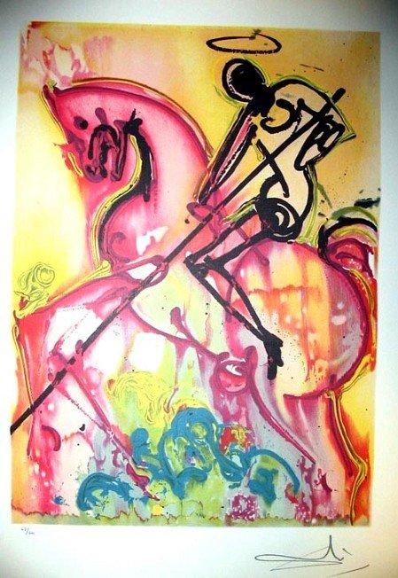 SALVADOR DALI Saint George & the Dragon Print, Ltd Edn