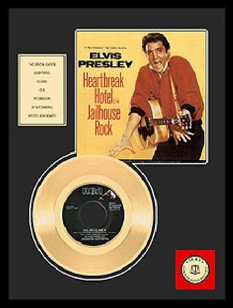 "ELVIS PRESLEY ""Jailhouse Rock"" Gold Record"
