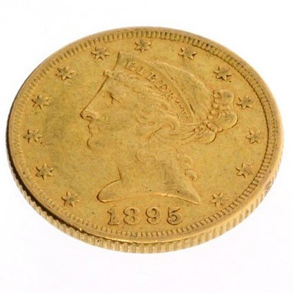 1895 U.S. $5 Liberty Head Gold Coin - Investment