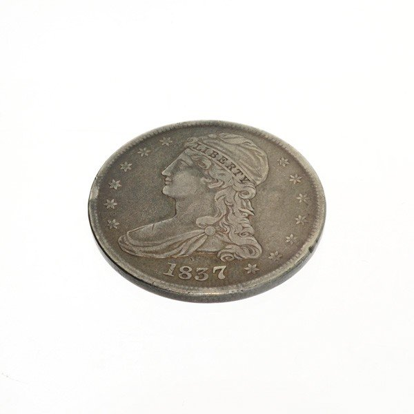 1837 U.S. Bust Capped Liberty 1/2 Dollar Coin