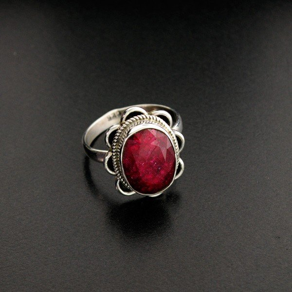 APP: 1.5k 6.76CT Ruby & Sterling Silver Ring