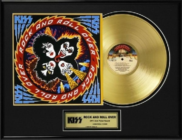 """KISS """"Rock and Roll Over"""" Gold LP"""