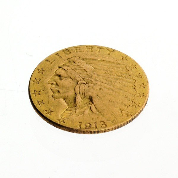 1913 U.S. $2.5 Indian Head Gold Coin - Investment
