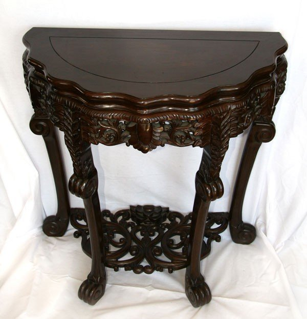 Asian Carved Rosewood entry table large Pick Up Only