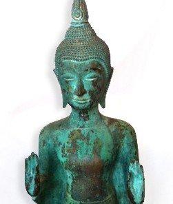 Nepalese Bronze Buddha Beautiful Green Patina