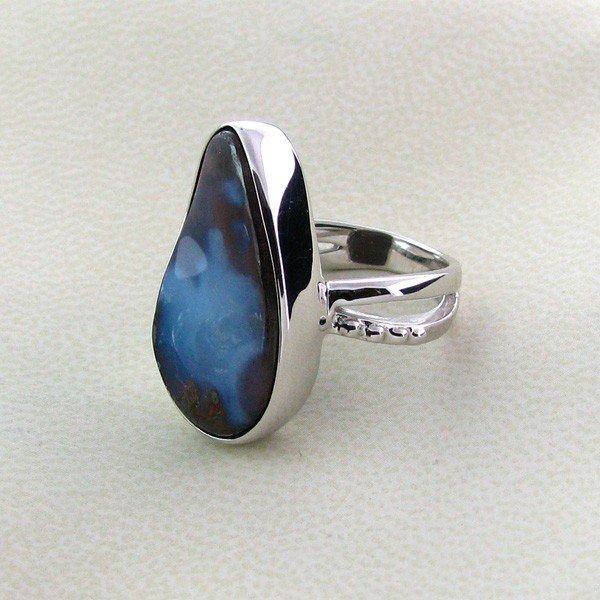 APP: 6.9k 19.03CT Boulder Opal & Sterling Silver Ring