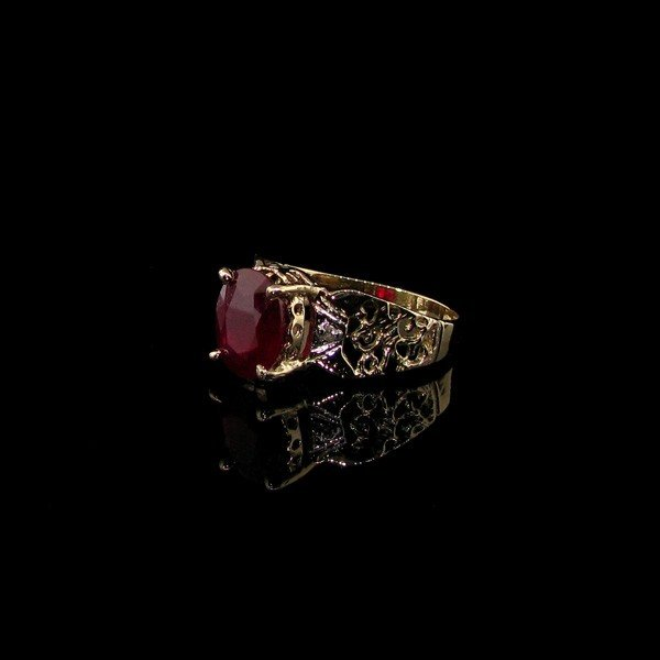 APP: 4.8k 14 kt. Yellow & White Gold, 3.52CT Ruby Ring