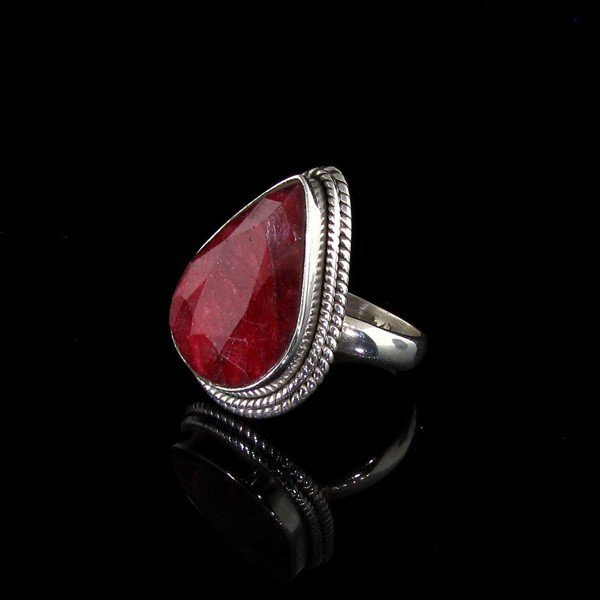 APP: 6.7k 13.84CT Ruby & Sterling Silver Ring