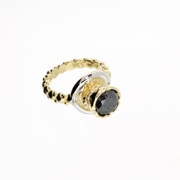 APP: 7k 2CT Rare Black Diamond 14kt Gold & Diamond Ring