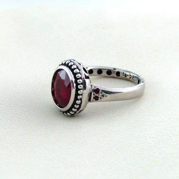 APP: 6.7k 4.78CT Ruby w/Diamond & Sterling Silver Ring