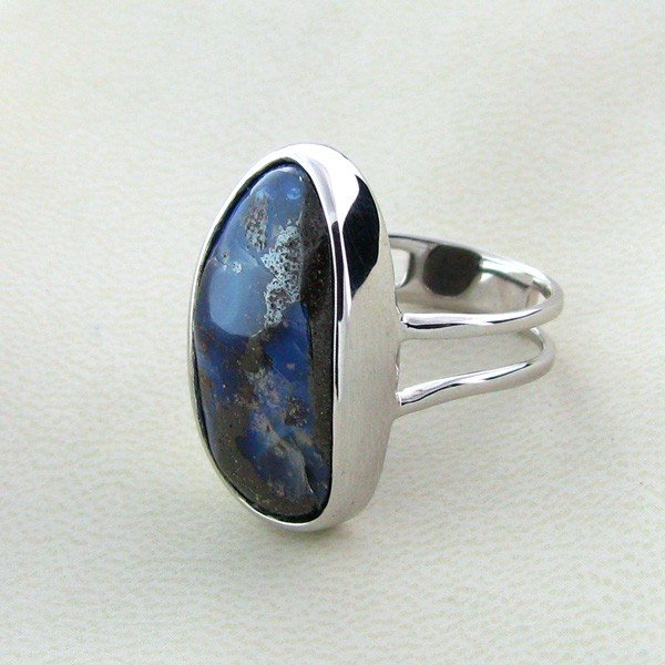 APP: 13.9k 19.67CT Boulder Opal & Sterling Silver Ring