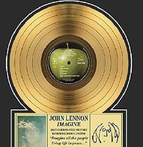 "JOHN LENNON ""Imagine"" Gold LP-Limited Edition"