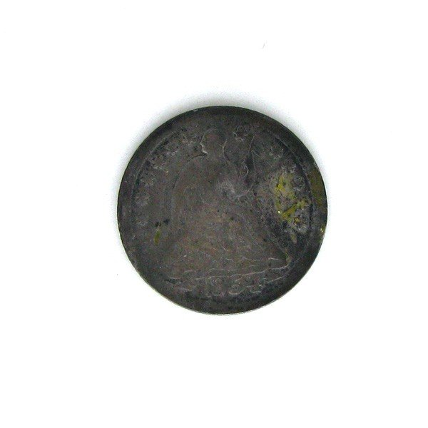1854-O-w/A  U.S. Seated Liberty 1/2 Dime Coin