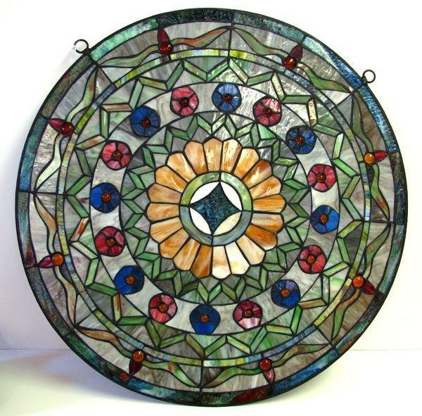 Tiffany - Style Round Glass Window