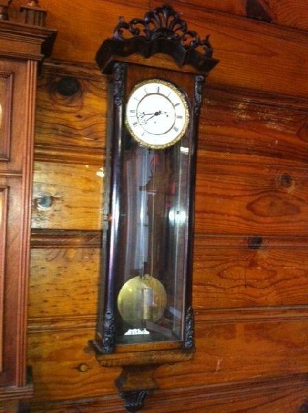 Biedermeier Grand Sonerie Clock, 1-Weight -Runs Well