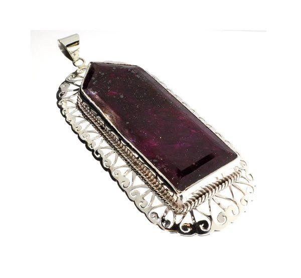 APP: 35.6k 129.88CT Ruby & Sterling Silver Pendant