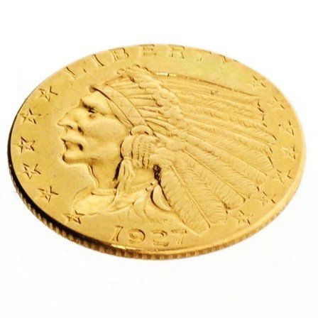 1927 U.S. $2.5 Indian Head Gold Coin - Investment