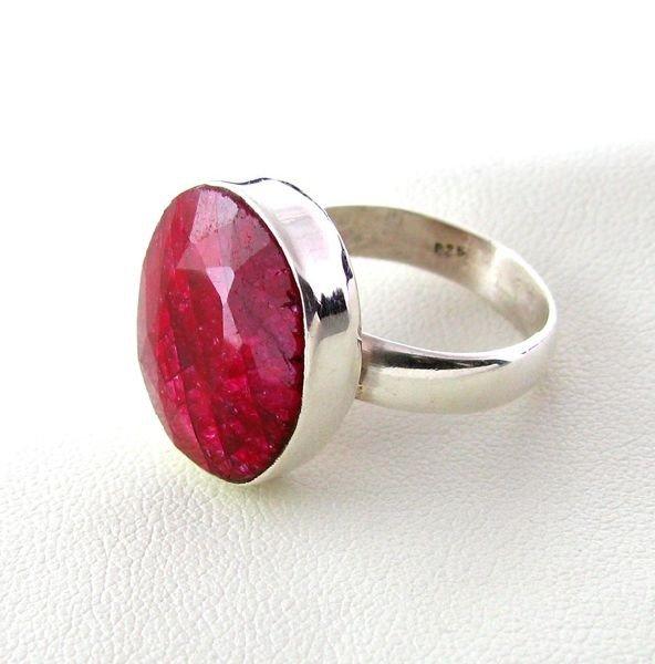 APP: 3.4k 16.92CT Ruby & Sterling Silver Ring