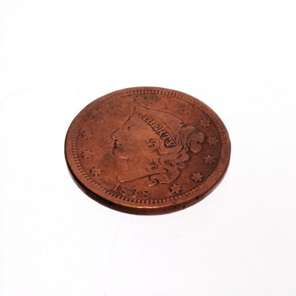 1838 U.S. Liberty Head One Cent  Coin - Investment