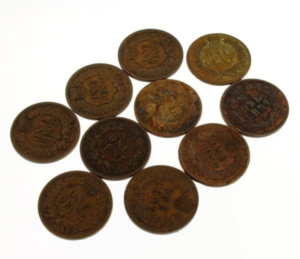 10 Misc. Indian Head One Cent Coin - Investment - 2