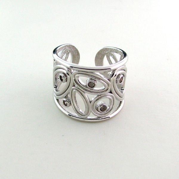 APP: 0.9k 0.16CTDiamond & Sterling Silver Ring