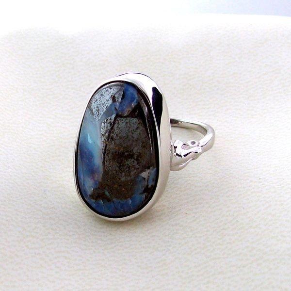 APP: 3.5k 23.39CT Boulder Opal & Sterling Silver Ring