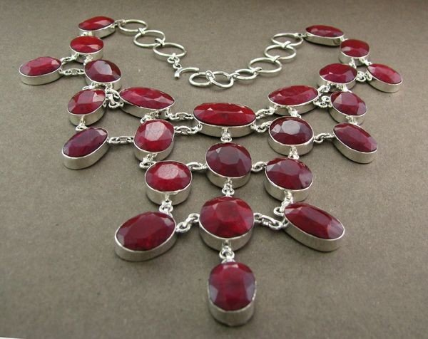 APP: 59.6k 301.40CT Ruby & Sterling Silver Necklace