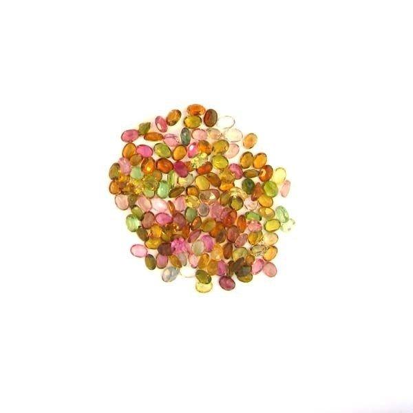 APP: 3k 21CTOval Cut, Multi-Colored Tourmaline Parcel