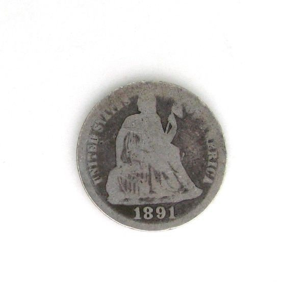 1891 U.S. Seated Liberty Dime  Coin - Investment