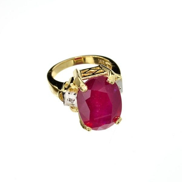 APP: 14.3k 14 kt. Gold, 13.12CT Ruby Ring