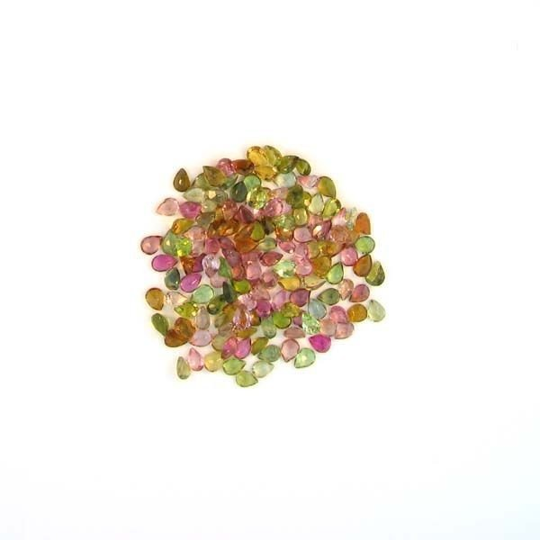 APP: 3k 21CTPear Cut, Multi-Colored Tourmaline Parcel