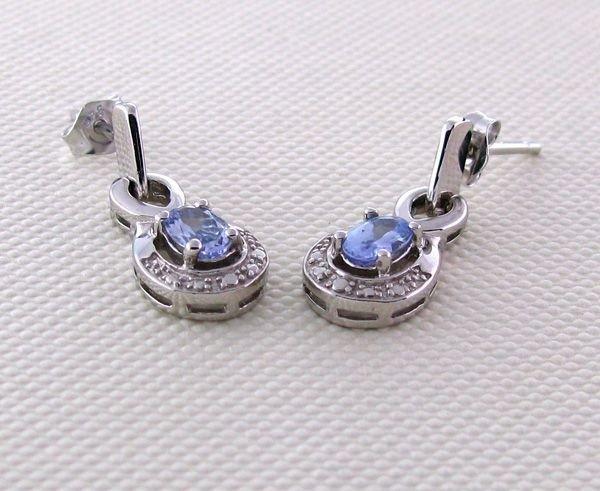 APP: 1k 18kt Gold & Silver, Tanzanite Earrings