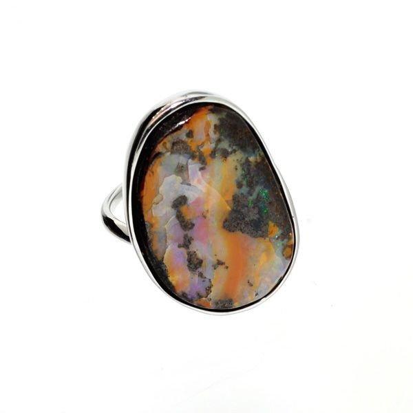 APP: 6.7k 44.75CT Boulder Opal & Sterling Silver Ring
