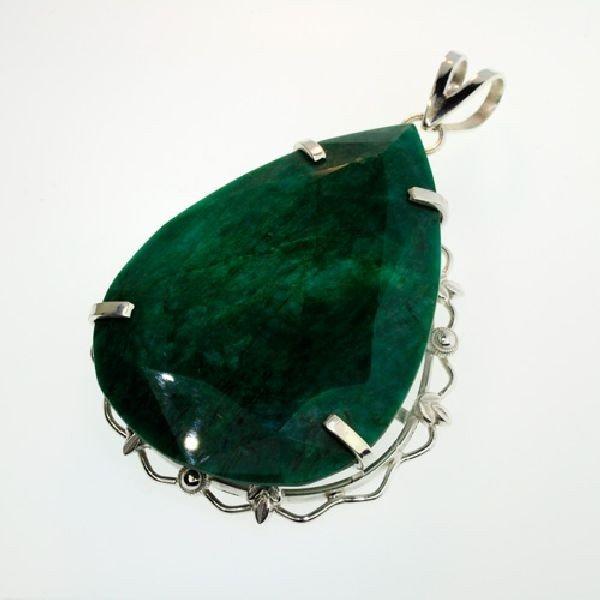 APP: 10.2k 174.97CT Emerald & Sterling Silver Pendant
