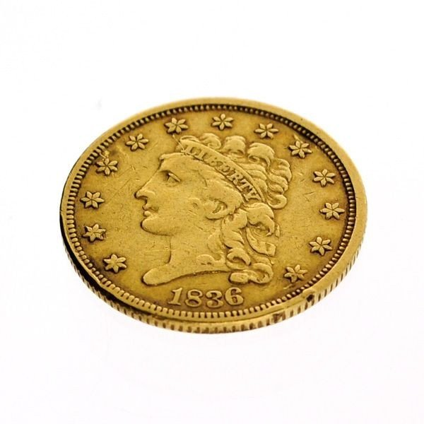 1836 U.S. $2.5 Liberty Head Gold Coin - Investment
